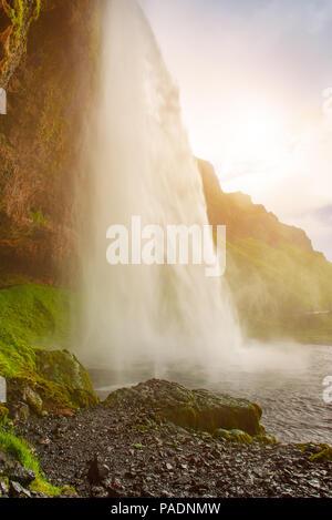 Cascade de Seljalandsfoss en Islande Banque D'Images