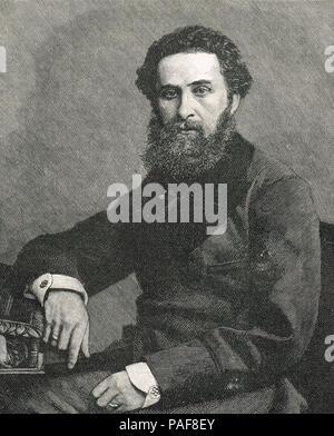 Robert Bulwer-Lytton, 1er comte de Lytton, homme d'État anglais, poète sous le nom de plume de Owen Meredith, vice-roi de l'Inde entre 1876 et 1880