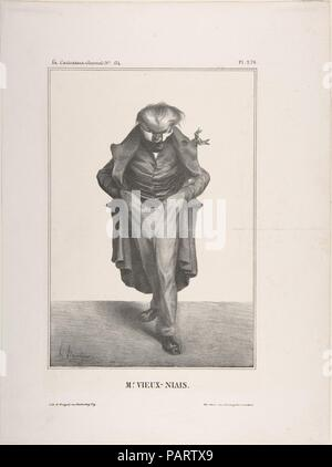 M. Vieux-Niais, publiée dans La Caricature no. 134, 30 mai 1833. Artiste: Honoré Daumier (Français, Marseille 1808-1879) Valmondois. Fiche Technique: Dimensions: 13 × 11/16 10 1/4 in. (34,8 × 26 cm) Image: 9 1/4 × 6 3/8 in. (23,5 × 16,2 cm). Imprimante: Becquet. Editeur: Aubert et Cie. Date: le 30 mai 1833. Musée: Metropolitan Museum of Art, New York, USA. Banque D'Images