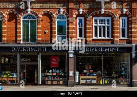 Ustensiles de cuisine/Vanilla Shop, Brompton Road, Knightsbridge, Londres, Angleterre Banque D'Images