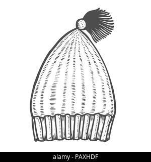 Les Tricots En Icône Style Monochrome Isolé Sur Fond Blanc