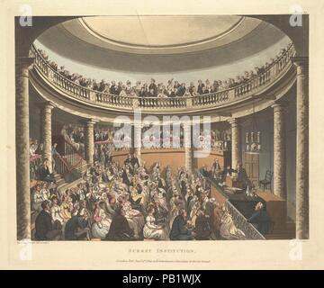 Institution de Surrey (Microcosme de Londres, pl. 81). Artiste: conçu et gravé par Thomas ROWLANDSON (britannique, Londres 1757-1827 Londres); conçu et gravé par Auguste Charles Pugin (British (né en France), Paris 1768/69-1832 London); l'aquatinte par Joseph Constantin Stadler (allemand, actif à Londres, 1780-1822). Fiche Technique: Dimensions: 10 × 12 11/16 13/16 in. (27,2 × 32,6 cm) Plaque: 9 1/8 × 10 13/16 in. (23,2 × 27,5 cm). Editeur: Rudolph Ackermann, Londres (actif 1794-1829). Series/portefeuille: microcosme de Londres. Date: 1 septembre 1809. Musée: Metropolitan Museum of Art, New York, USA. Banque D'Images