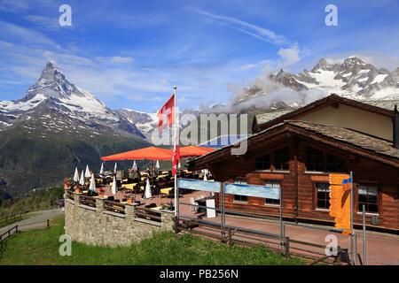 Matterhorn, vue à partir de la Sunegga Paradise, Suisse Banque D'Images