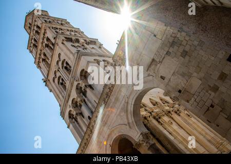 Cathédrale de saint Domnius et clocher, ancien Split, le centre historique de Split, Croatie Banque D'Images