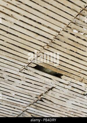 Le Lattis Et Plâtre Ancien Plafond Dans Une Chambre Banque Dimages