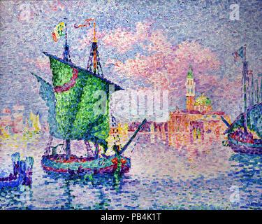 Venise, le nuage rose 1909 Paul Signac 1863 - 1935 France Banque D'Images