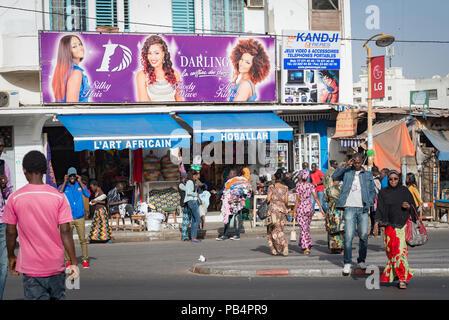 Le centre-ville de Dakar, Sénégal, Afrique de l'Ouest Banque D'Images
