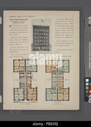 1698 l'Asse, en face de l'avenue Claremont 125 Rue; Plan d'étage; plan d'étages supérieurs (NYPL b12647274-465679) Banque D'Images