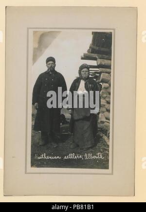 1279 colons Ruthènes, Alberta (HS85-10-23668) original Banque D'Images