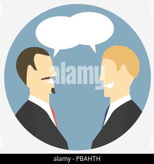 L'icône d'une télévision. Dialogue couleur signe. Vector illustration. Banque D'Images
