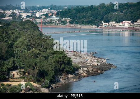 Gange à Rishikesh, Uttarakhand, Inde, Asie Banque D'Images