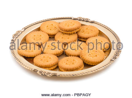 Groupe des biscuits isolated on white Banque D'Images