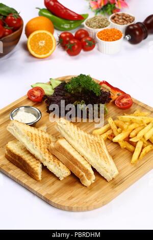 Sandwich panini grillé frais Banque D'Images
