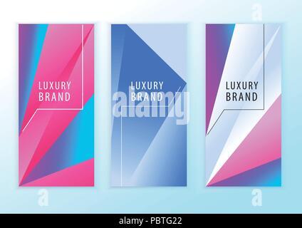 Néon bleu vertical bandeau rose. Éléments de conception Triangle. Abstract background Banque D'Images