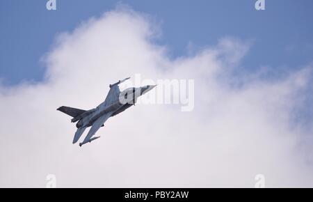 Polish Air Force F-16C Block 52+ Fighting Falcon se produisant au Royal International Air Tattoo 2018