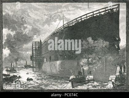 Lancement de SS Great Eastern, 31 Janvier 1858