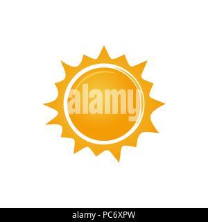 Logo Sun icône. Soleil simple symbole stylisé. Vector illustration isolé sur fond blanc Banque D'Images