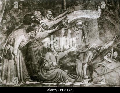105 Buonamico Buffalmacco. Triomphe de la mort. détail.Camposanto, Pise. Banque D'Images