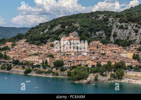 Bauduen, Var, Provence, France Banque D'Images