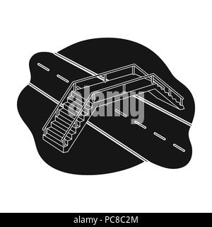 Seule icône de transition en noir style.symbole vecteur de transition images illustrations . Banque D'Images