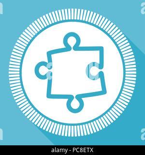 Télévision modifiable Puzzle icône vecteur, carré bleu, bouton web application smartphone et l'ordinateur se connecter eps 10 Banque D'Images