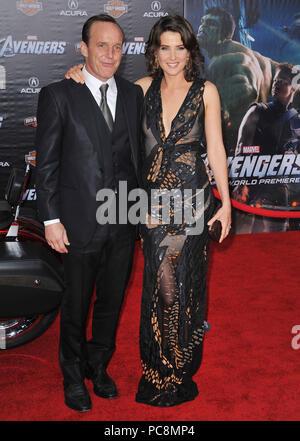 Cobie Smulders, Clark Gregg et femme Jennifer Gray à l