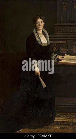 Ajdukiewicz Portrait de femme en costume médiéval. Banque D'Images