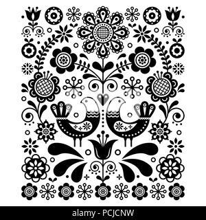 L 39 art populaire mignon scandinave d coration vectorielle - Deco printempsidees avec fleurs et motif floral ...