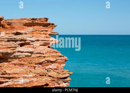 Les belles couleurs de l'Australie dans le littoral du Kimberley. Banque D'Images