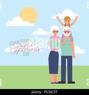 Grandparenst day card Banque D'Images