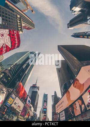 New York, Manhattan, bâtiments bas point de vue Banque D'Images