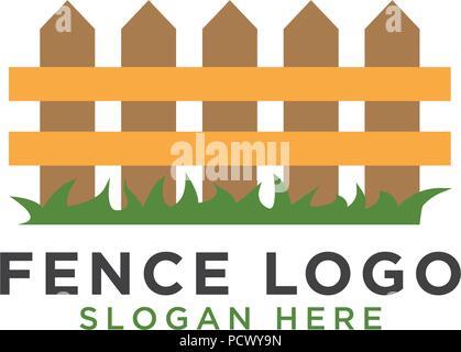 Illustration du modèle de conception de logo clôture vector Banque D'Images