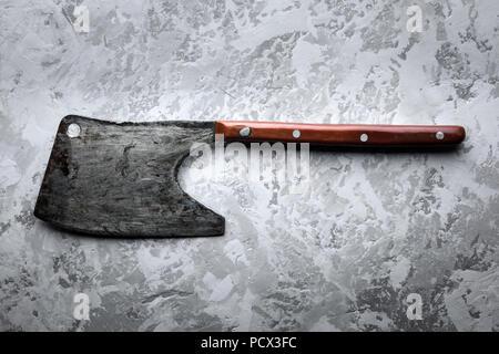 Rustique ancienne ax pour la viande le grunge background Banque D'Images