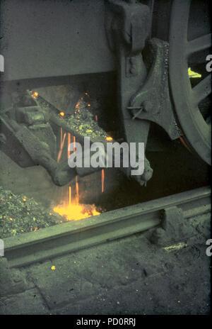 La fin de la vapeur- Standard 5MT Aucune classe 73069 a son fire suppression pour la dernière fois à Lostock Hall mpd après avoir travaillé les ECR 'Fin de l'ère de la vapeur' tour 04/08/1968 Banque D'Images