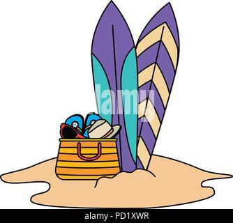 D'été Sac Des À Main Vector Planches Sandales Et Avec SMGUVpqLz