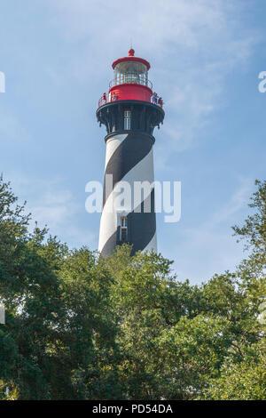 Le phare de Saint Augustine est à l'extrémité nord de l'île d'Anastasia, dans l'actuel les limites de la ville de Saint Augustine, en Floride. La tour, construite en 18 Banque D'Images
