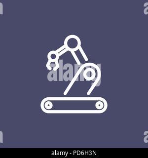 Icône robotique télévision simple contour style illustration. Banque D'Images