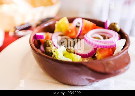 Salade traditionnelle Tropea Banque D'Images