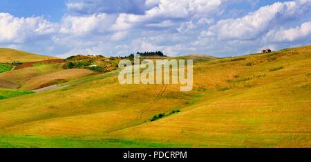 Paysage d'automne impressionnant,vue panoramique,Toscane,Italie. Banque D'Images