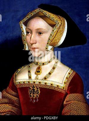 Jane Seymour (autour de 1509-1537 par Hans Holbein (le jeune) Allemand Allemagne Jane Seymour s'est marié avec le roi anglais Henry VIII (1491 - 1547) en tant que maître. Entre le mariage du couple à la fin du mois de mai 1536, qui a été suivi par Jane's proclamation à la reine quelques jours plus tard, et la mort précoce de la pas trente ans en octobre 1537. Banque D'Images
