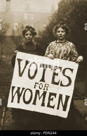 Annie Kenney et Sylvain Pankhurst. Banque D'Images