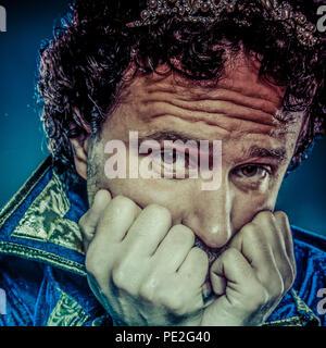 Prince bleu, noblesse concept, funny fantasy photo Banque D'Images