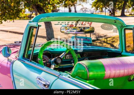 Une vue typique à Varadero à Cuba Banque D'Images