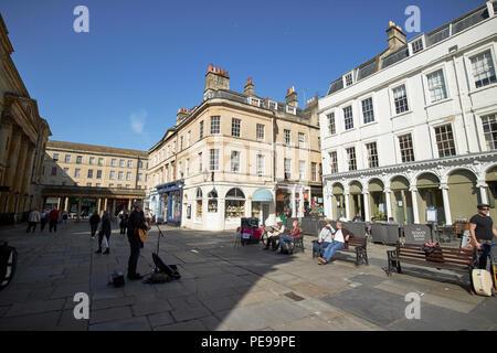 Cimetière de l'abbaye dans le centre de Bath England UK Banque D'Images