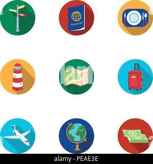 L'étranger,air,appareils,avion,bus,bal,camera,collection,boussole,dollars,télévision,nourriture,vol,monde,hotel,icon,icônes,illustration,isolé,logo,phare,argent,plaque,passeport,objets,poster,sac à main,reste,road,set,signer,panneau,valise,thème,symbole,billets,voyage,tour,web,vecteur vecteurs vecteur, , Banque D'Images