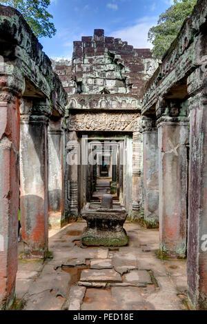 Preah Khan Temple, Siem Reap, Cabmodia Banque D'Images