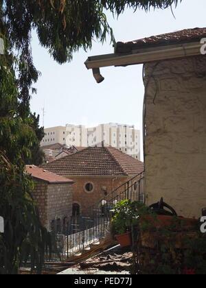Rue résidentielle à Jérusalem, Israël Banque D'Images