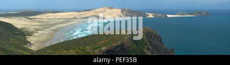 Cape Maria Van Diemen vu de Cape Reinga, île du Nord, Nouvelle-Zélande Banque D'Images