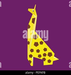 Girafe jaune papier Banque D'Images