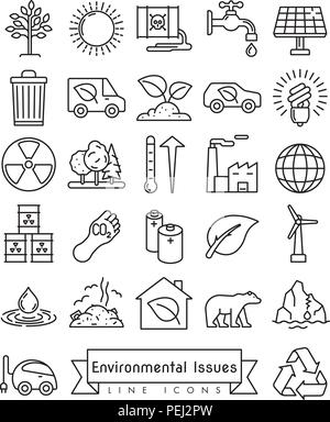 Collection de l'environnement et changements des icônes vectorielles Banque D'Images